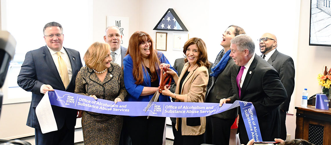 Ceremonial ribbon to open Second Chance Opportunities Inc.'s new Recovery Community and Outreach Center