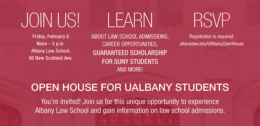 UAlbany Open House Card