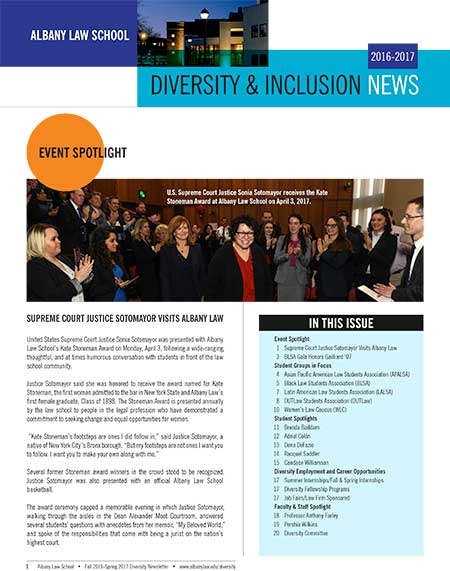2017 Diversity and Inclusion Newsletter