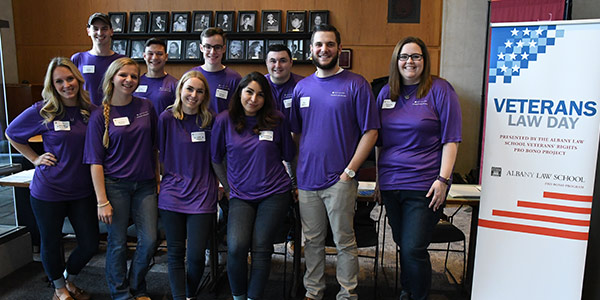 Student volunteers at 2018 Veterans Law Day
