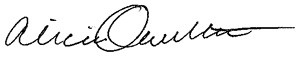 Alicia Ouellette Signature