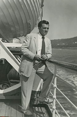 Photo of Vernon Miller on a boat