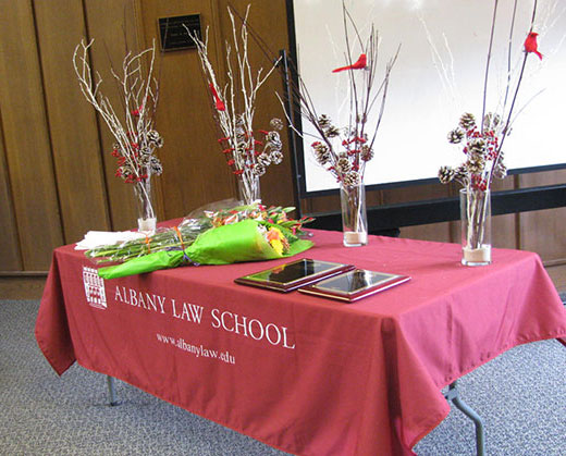Moot Court Awards Table