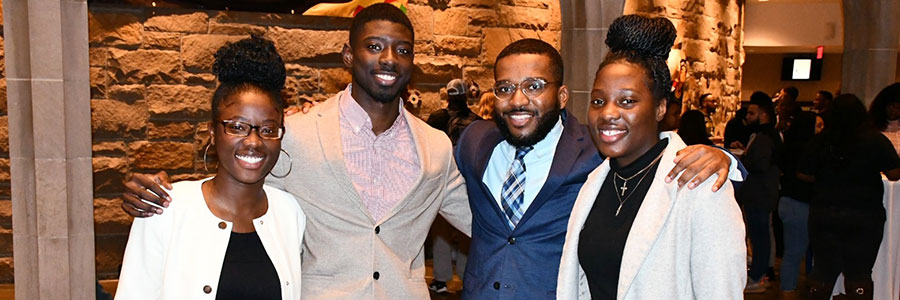 BLSA students at Black History Month event
